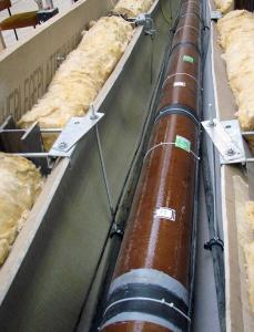 Bild Technikumsversuchsstand zur Effizienz eines L-EWT-Rohrs aus Steinzeugeines grabenlos eingebrachten L-EWT