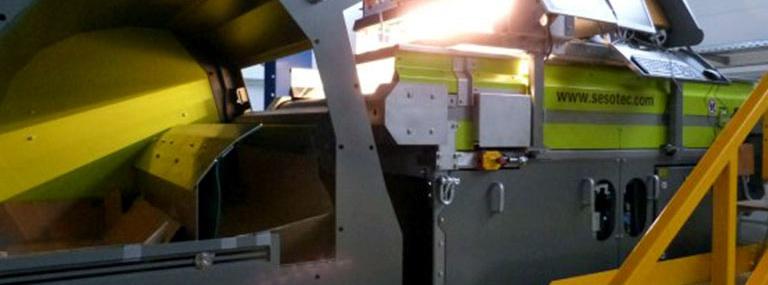 Bild Sensorgestützte Sortierung: Mit Praxispartnern entwickelte sensorgestützte Einzelkornsortiermaschine