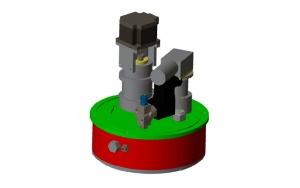 Bild Überwachung der Ablaufwerte von Kleinkläranlagen: Konstruktionsschema der Messapparatur
