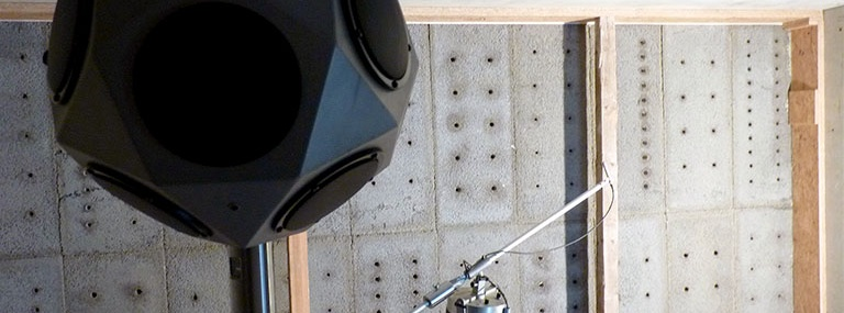 Bild Betonschallhaube: Wand-Funktionsmuster (Innenwand) im mobilen Wandprüfstand (MobiPrüf) des IAB