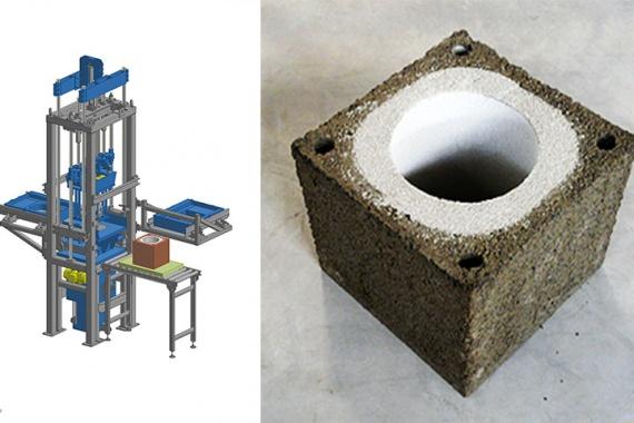 Bild Duplex-Steinfertiger mit vertikalem Funktionsprinzip