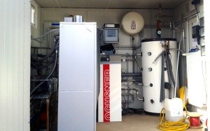 Bild Wärmepumpencontainer Großfeldversuch