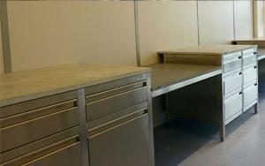 Bild UHPC Labormöbelsystem: Funktionsmuster Laborarbeitstische