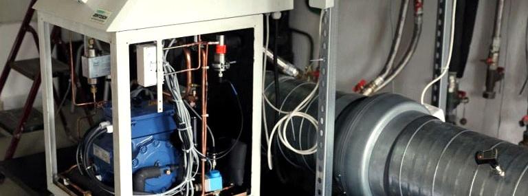 Bild Wirkungsgraderhoehung von Blockheizkraftwerken: Versuchsstand mit Direktverdampfer-Wärmepumpe und Abgaswärmeübertrager