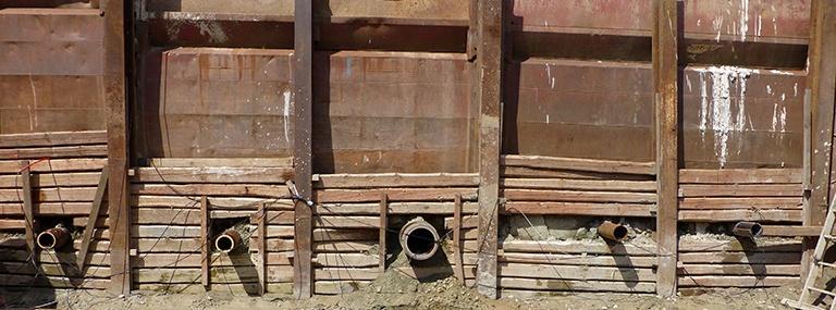 Bild Erdverlegter Luftwärmetauscher aus Steinzeug: Großfeldversuchsstand eines grabenlos eingebrachten L-EWT
