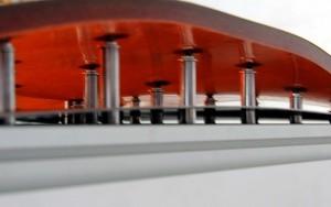 Bild Dünnwandige Betonschalen: Stellglieder mit Inserts und Kugelkopfanbindung