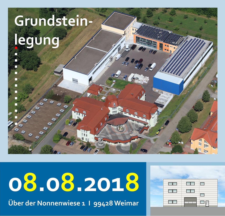 Bild Banner Feierliche Grundsteinlegung für neue IAB-Recyclinghalle in Weimar