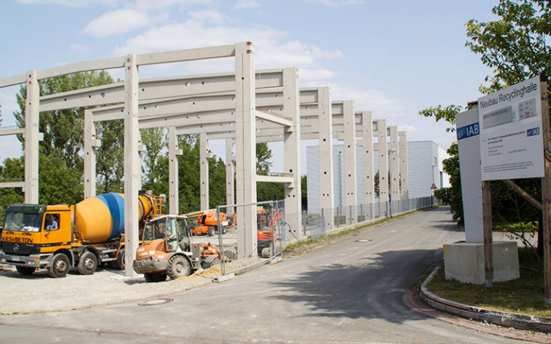 Neubau des Recycling-Technikums
