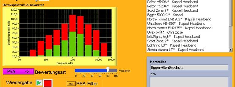 Bild Analysesoftware DSA-Gehörschutzauswahl