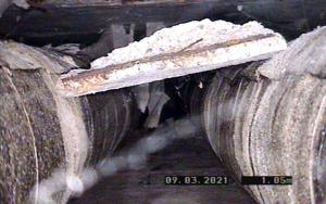 Bild Beton-Abplatzung im Fernwärmekanal