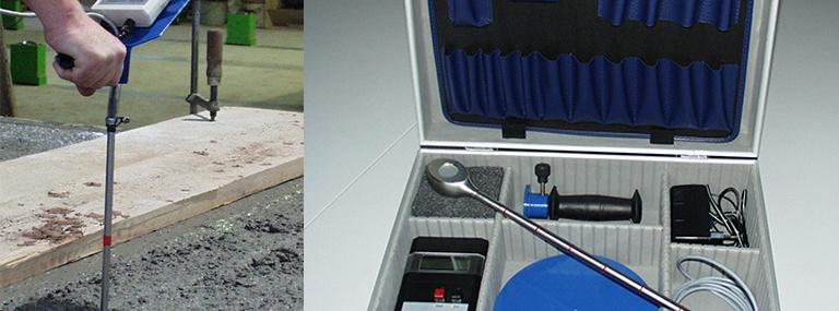 Bild DDM-4 Messgerät im Einsatz