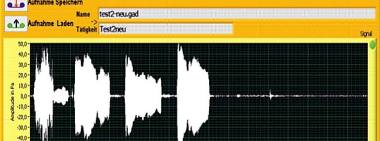 Bild Software Datenbankbasiertes Schallmess- und Analysesystem (DSA)