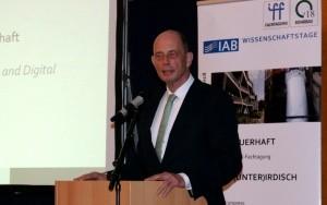 Bild Wolfgang Tiefensee, IAB-Wissenschaftstage 2018