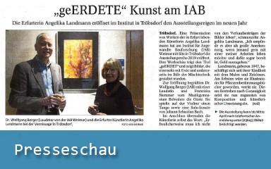 "Presseschau: ""geERDETE"" Kunst am IAB (TA/TLZ Weimar, 30.01.2019)"