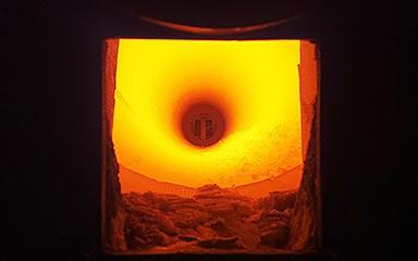 Bild Verbrennung im Drehrohrofen