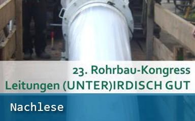 Bilder Banner ´Nachlese 23. Rohrbau-Kongress