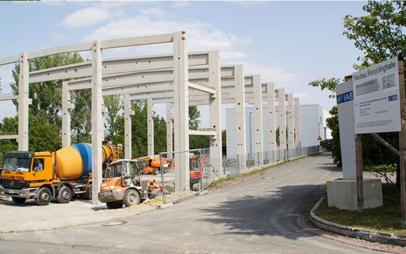 Neubau IAB Recycling-Technikum (August 2018)