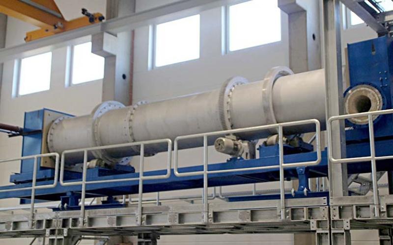 IAB Recycling-Technikum: Drehrohrofen (Februar 2019)