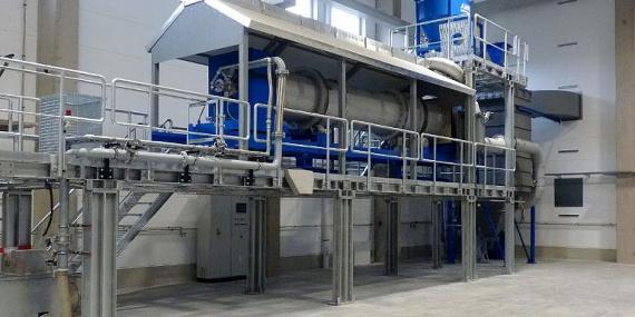Bild Drehrohrofen IAB Baustoffrecycling