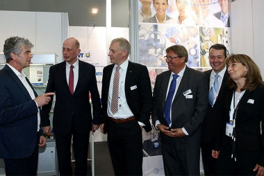 Bild Thüringer Wirtschaftsminister Wolfgang Tiefensee auf der Hannover Messe 2019