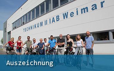 Bild Auszeichnung Team IAB ReCYCLING STADTRADELN Weimar