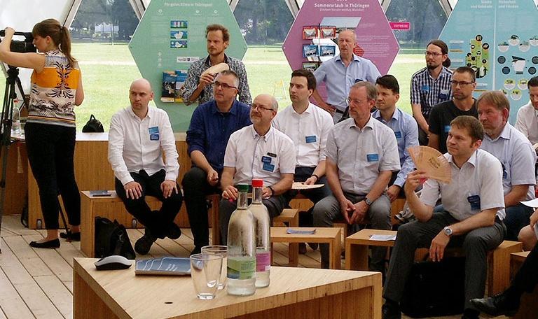 Bild Kick-Off-Veranstaltung zum energetischen Stadtumbau im Klima-Pavillon in Jena