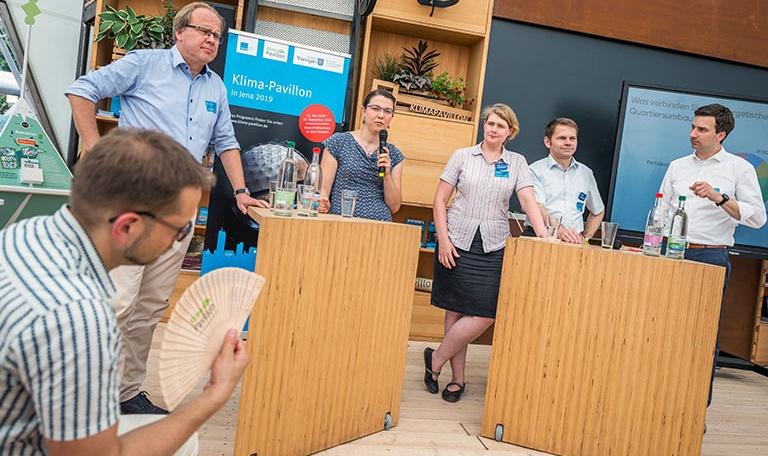 Bild Experten-Verbund im Klima-Pavillon in Jena