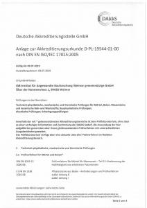 Bild Anlage zur DAkkS Urkunde IAB Weimar