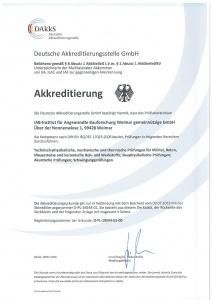 Bild DAkkS Urkunde IAB Weimar
