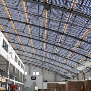 BIPV-Überdachung des Firmensitzes der Galaxy Energy GmbH, Berghülen