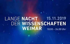 Bild Banner Lange Nacht der Wissenschaften 2019 in Weimar