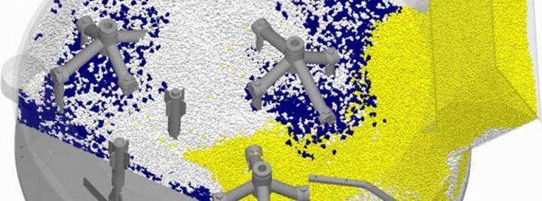 Bild Mischsimulation granularer Stoffe