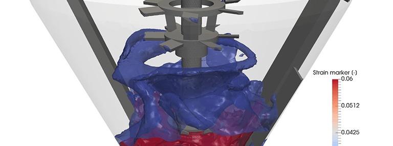 Bild Strömungssimulation von Frischbeton