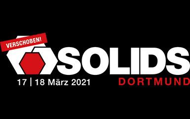Banner SOLIDS Fachmesse 2021 in Dortmund
