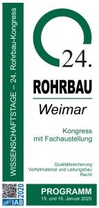 Bild Titelseite Programm 24. Rohrbau-Kongress 2020 in Weimar online