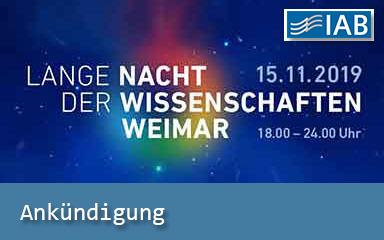 Bild Ankündigung Lange Nacht der Wissenschaften in Weimar