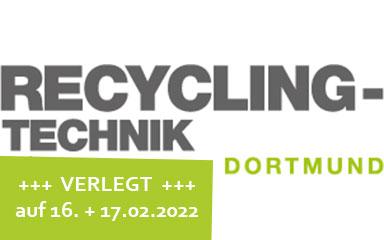 Bild Banner Fachmesse Recycling-Technik 2021 in Dortmund (verlegt)