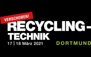 Banner Fachmesse Recycling-Technik 2021 in Dortmund