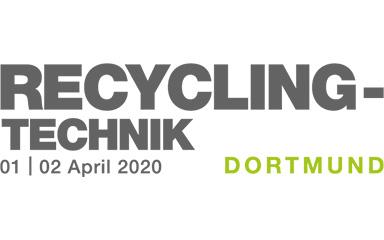 Bild Banner RECYCLING-TECHNIK 2020 Fachmesse in Dortmund