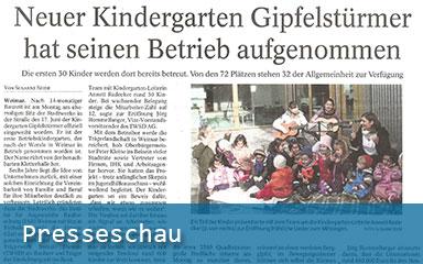 Bild Presseschau Betriebskindergarten Gipfelstürmer in Betrieb