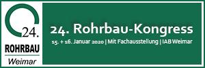 Bild Banner 24. Rohrbau-Kongress 2020 in Weimar