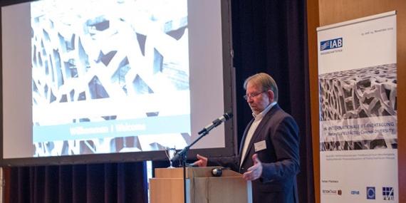 Bild Eröffnung der 26. Internationalen IFF-Fachtagung durch Dr. Ulrich Palzer