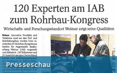 Bild Presseschau Bericht 24. Rohrbau-Kongress