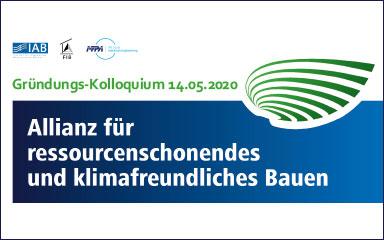 Bild Gründungs-Kolloquium der Allianz für ressourcenschonendes und klimafreundliches Bauen
