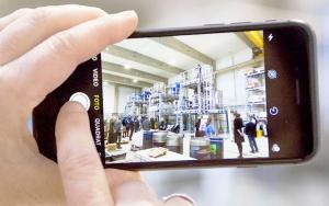 Bild Smartphone-Foto der Sortieranlage im IAB-Recycling-Technikum