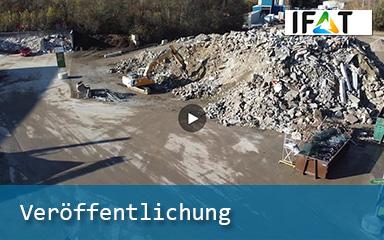 Bild Banner Veröffenlichung IFAT Baustoffrecycling am IAB