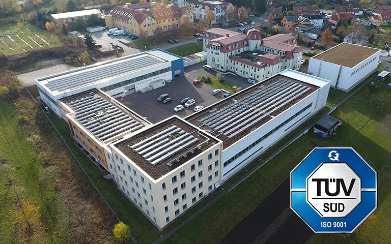 BIld IAB – Institut für Angewandte Bauforschung Weimar gGmbH mit TÜV-Prüfsiegel der Norm ISO 9001