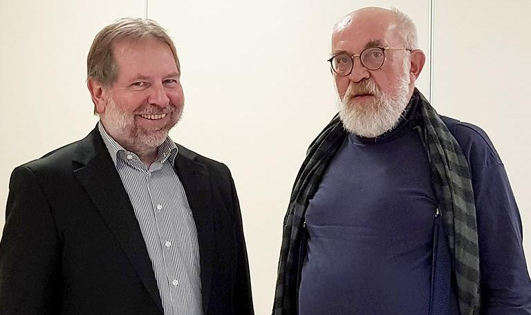 Bild IAB-Institutsdirektor Dr. Ulrich Palzer mit wiis. Mitarbeiter Dietmar Wesser