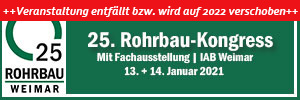Bild Banner 25. Rohrbau-Kongress in Weimar verschoben