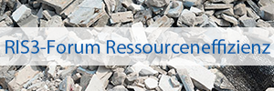 """Bild Banner RIS3-Forum Ressourceneffizienz """"Bauschuttrecycling"""""""